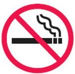 耐用乙烯安全地贴-禁止吸烟 Φ440MM 附防滑膜 指示牌 地面胶带 安全标识 吸烟管理 耐用地贴 不干胶地贴