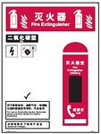 灭火器指示指南-二氧化碳型 500MM*750MM  红黑色 安全认知指南 安全宣传
