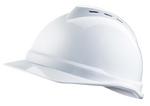 V-Gard 白色 500 豪华型PE帽壳+通风孔+轻旋风帽衬+D型下颏带+针织布吸汗带 梅思安 10108798 建筑安全帽 防砸帽