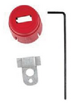 贝迪安全锁具 气源锁具 空气调节器锁 大号 聚丙烯 64540