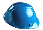 V-Gard 蓝色 优越型ABS帽壳+轻旋风帽衬+D型下颏带+PVC吸汗带 梅思安 9145421 防护帽 安全帽 工作帽 建筑安全帽