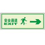 标识铭牌 不干胶墙贴 高亮度自发光墙贴   夜光标识牌 告示牌 安全通道向右
