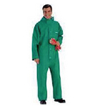代尔塔 带兜帽防酸防化连体服 401015 PVC涂层液密防化连体服 防化服
