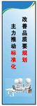 改善品质要规划 主力推动标准化 300MM*900MM 企业文化标语 安全宣传
