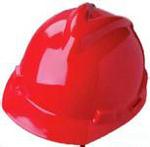 V-Gard 红色 优越型ABS帽壳+轻旋风帽衬+C型下颏带+针织布吸汗带 梅思安 9144419 安全帽 建筑安全帽 防砸帽 施工帽