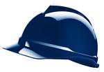 V-Gard 蓝色 500 豪华型PE帽壳+通风孔+轻旋风帽衬+D型下颏带+针织布吸汗带 梅思安 10108808 安全帽 施工帽 个人防护