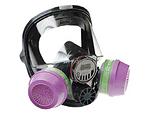 双滤盒硅胶全面罩 舒适款 霍尼韦尔 760008A 全面罩 防病菌面罩 防护面罩 防尘面罩 防毒面罩 呼吸防护