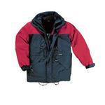 代尔塔 PVC涂层涤纶面料防寒工作服 405321 户外专用 红色 劳保防护服