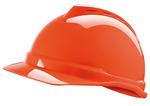V-Gard 橘黄色 500 豪华型ABS帽壳+通风孔+易拉宝帽衬+D型下颏带+PVC吸汗带 梅思安 10109032 施工安全帽 个人防护