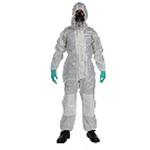 MSA 连体式化学防护服 无鞋套 10114581 10114570 拦截者防护服 连体式