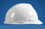 V-Gard 白色 优越型ABS帽壳+轻旋风帽衬+D型下颏带+针织布吸汗带 梅思安 9141418 工地帽 防护帽 工作帽 安全帽