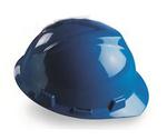 V-Gard 蓝色 标准型PE帽壳+轻旋风帽衬+D型下颏带+PVC吸汗带 梅思安 9115821 安全帽 施工帽 工地帽 头部防护