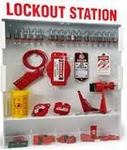 贝迪安全锁具 锁具挂板套装 特大型锁具箱  配18把钢制挂锁 99694