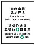 安全标识牌 国家标准环保可回收标识 回收废物 保护环境