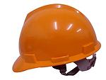 V-Gard 橘黄色 标准型ABS帽壳+易拉宝帽衬+D型下颏带+PVC吸汗带 梅思安 9123321 施工帽 工地帽 防护帽