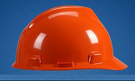 V-Gard 橘黄色 优越型ABS帽壳+轻旋风帽衬+YD型下颏带+针织布吸汗带 梅思安 9143412 施工帽 工地帽 防护帽 头部防护