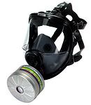 单滤罐型硅胶全面罩呼吸器 舒适款 霍尼韦尔 54301 全面罩 防尘面罩 防毒面罩 防病菌面罩 呼吸防护 个人防护