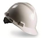 V-Gard 白色 标准型ABS帽壳+轻旋风帽衬+C型下颏带+PVC吸汗带 梅思安 9121423 安全帽 防砸帽 施工帽 工地帽 个人防护