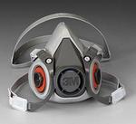 6000系列 半面型防护面罩(双滤盒) 小号 3M 6100 防病菌面罩 防护面罩 劳保面罩 呼吸防护 原装 劳保专用 原厂正品 优质