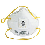 N95 带阀颗粒物防护口罩 头带式 3M 8210V 防毒口罩 防病菌口罩 防护口罩 呼吸防护 劳保用品 PPE